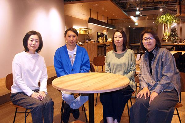 インタビューを終えて:左から mediba 福田様、岡様、UED高橋、竹中